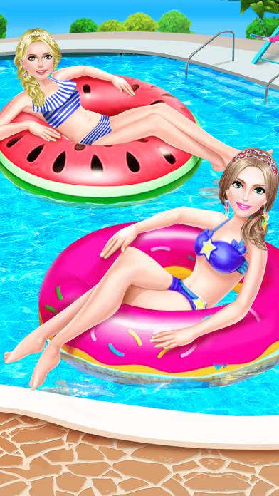 Summer Splash! Pool Party Spa - Makeup, Makeover & Dressup