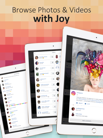 PadPics for Instagram - Free IG Photo & Videos Viewer for iPad screenshot two