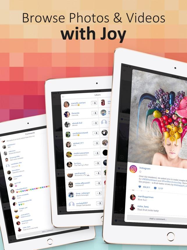 PadPics for Instagram - Free IG Photo & Videos Viewer for iPad trên