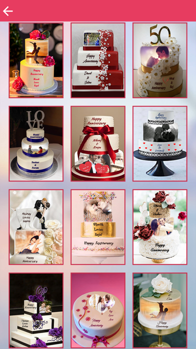 Name and Photo on Anniversary Cake screenshot three