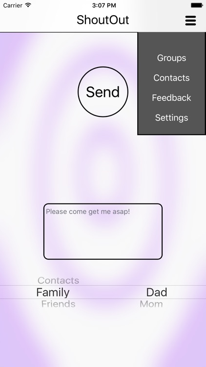 ShoutOut - quickly send messages with coordinates and link to your location