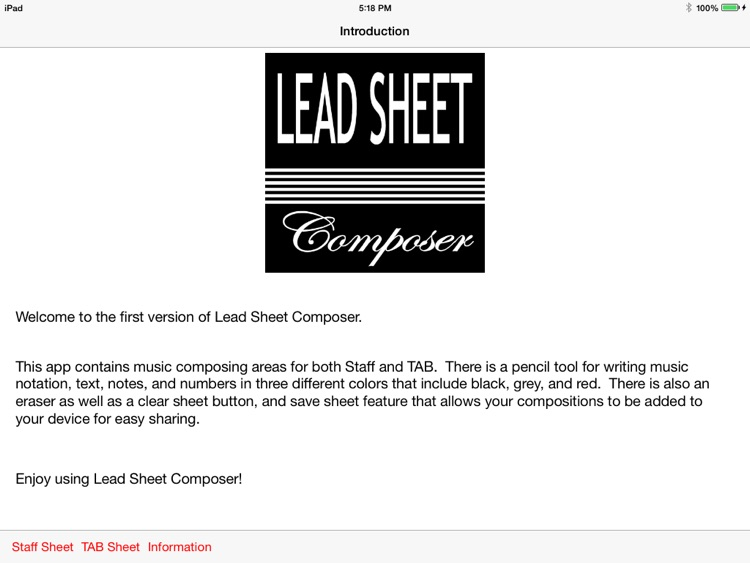 Lead Sheet Composer