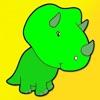 子供のぬりえ – かわいい漫画の恐竜宮下