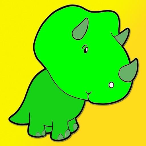 Baixar Kids Coloring Book - Dinossauro bonito dos desenhos animados Miyashita para iOS