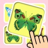 3D Memo match Butterfly Cards - Training your brain with pair matching games