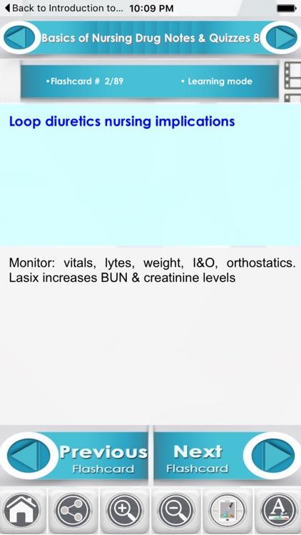 Basics of Nursing Drug 4600 Flashcards screenshot-3