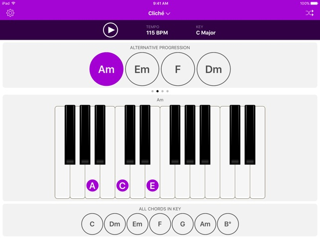 Autochords Chord Progression Generator For Guitar Keyboard And