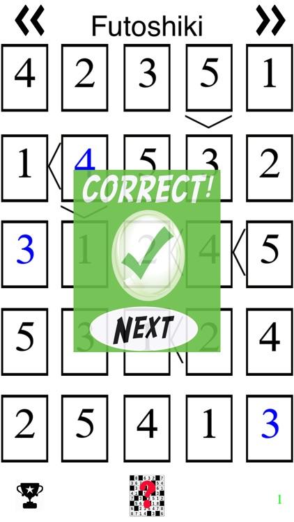 Futoshiki (Sudoku like Japanese Puzzle Game)