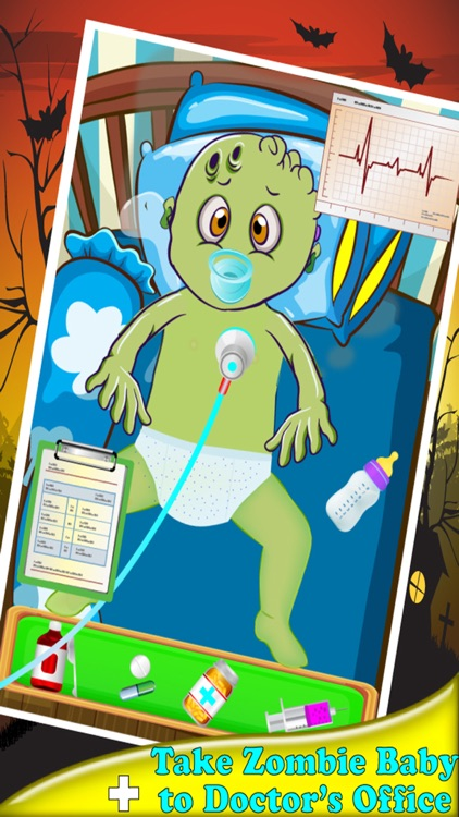 Zombies New Born Baby Caring - A New Baby Care & Dress Up Zombie Game screenshot-2