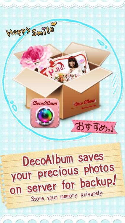 DecoAlbum, Japanese photo collage diary app screenshot-3