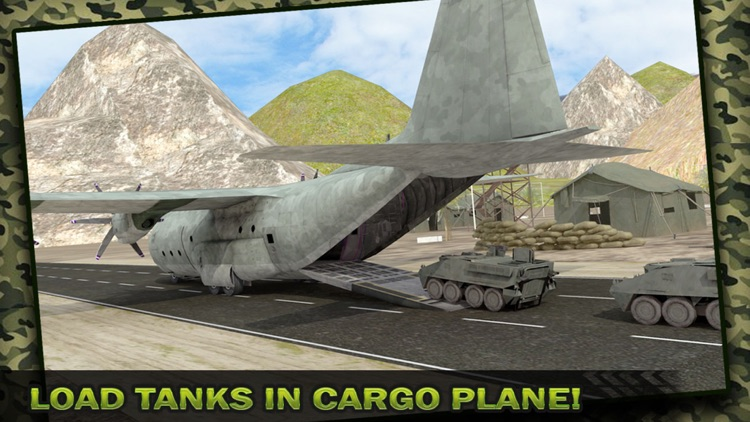 Army Cargo Plane Flight Simulator: Transport War Tank in Battle-Field screenshot-3