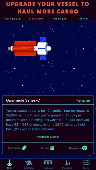 Limitless Fortune: Orbital Trade and Investment screenshot two
