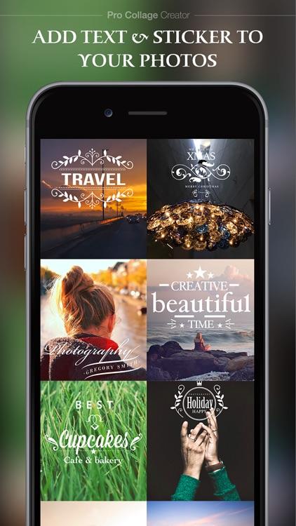 Pro Collage Creator Max - Photo Collage Editor & Layout & beauty Camera & sticker