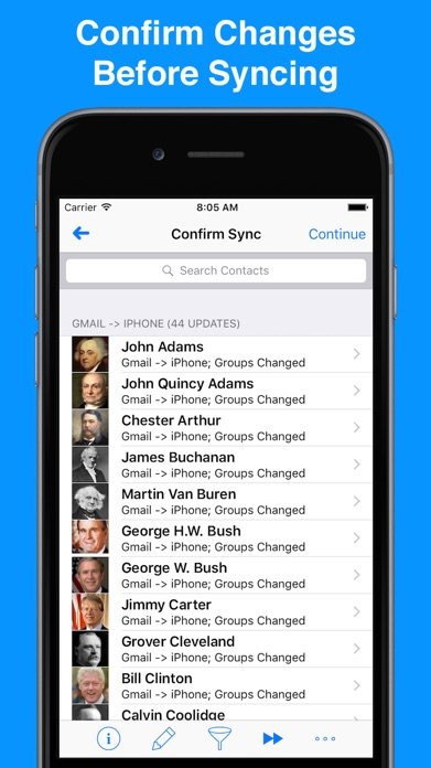 Contacts Sync for Google Gmail Screenshot