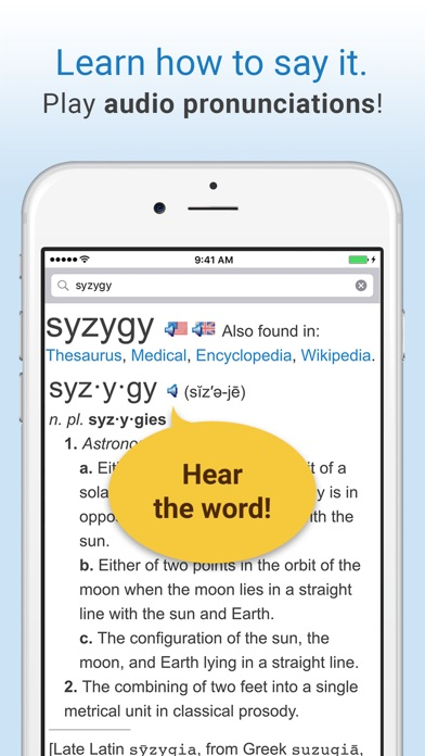 Screenshot for Dictionary. in Belgium App Store