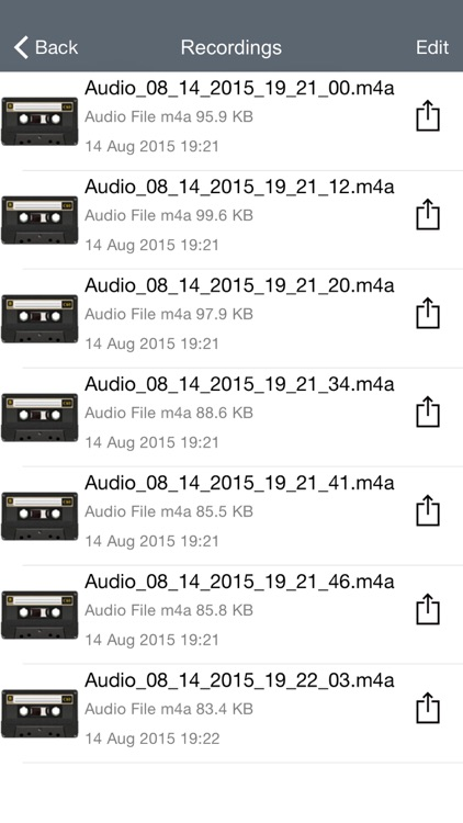 Voice Manager for Audio Recording, Playback, Trimming and Sharing screenshot-2