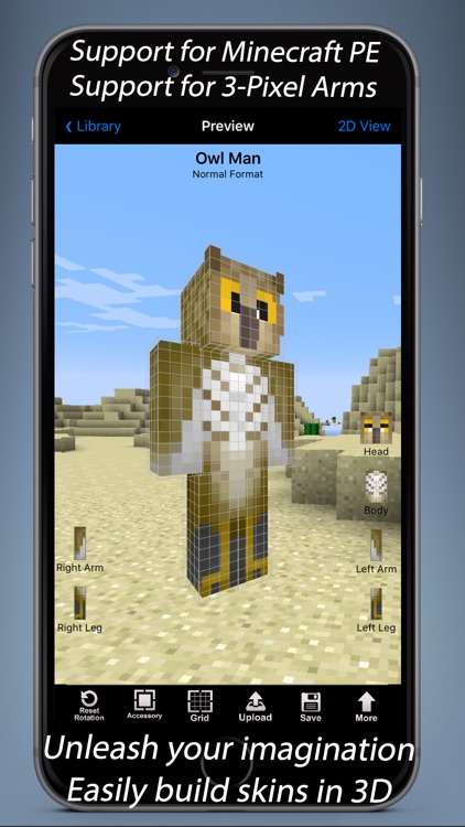 Skin Designer 3D for Minecraft