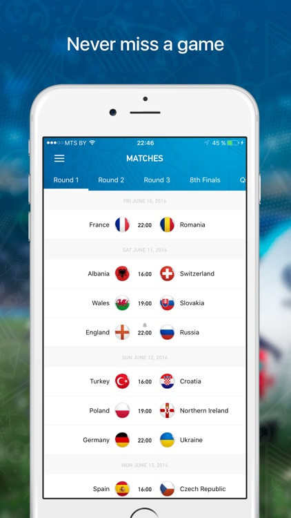 Euro Live — Scores & News for 2016 European Soccer Championship screenshot-4