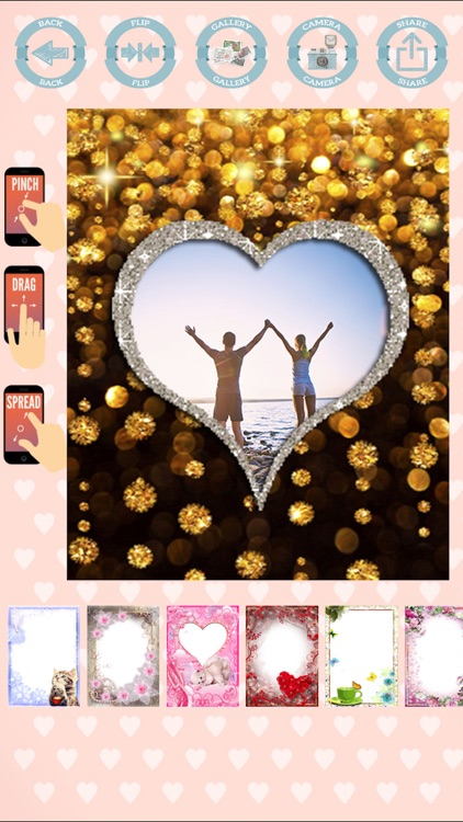 Love frames to create cards with photos screenshot-3