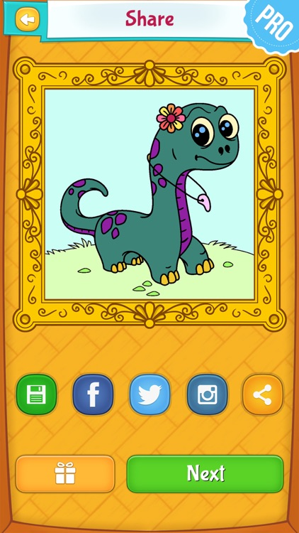 Dinosaur Coloring Pages PRO: Animal Coloring Book for Kids screenshot-3