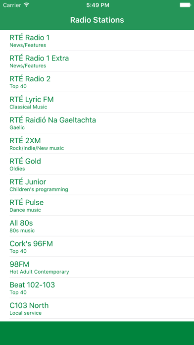 Radio Ireland FM - Stream and listen to live online music, news channel and raidió show with Irish streaming station player screenshot one