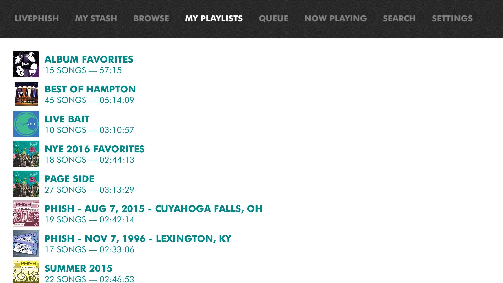 LivePhish screenshot 15