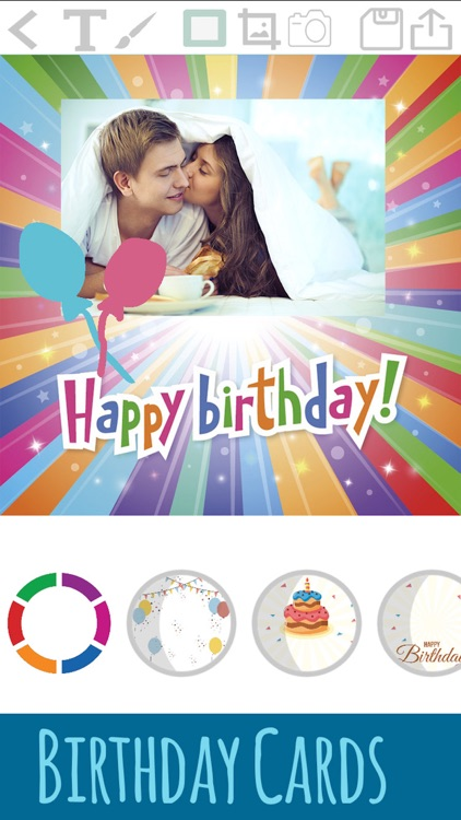 Create birthday cards - edit and design postcards