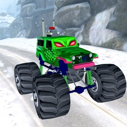 3D Monster Truck Snow Racing- Extreme Off-Road Winter Trials Driving Simulator Game Pro Version