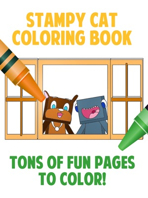 ‎Stampy Cat Coloring Book: (Unofficial) Minecraft Coloring Book ft   Youtubers Stampylongnose, iBallisticSquid, and Lee