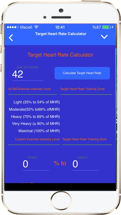 Fitness and Exercise Calculators