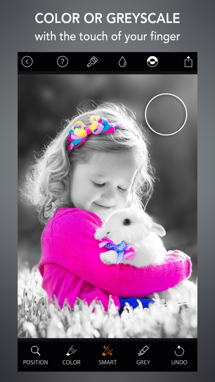 Selective Color - Splurge effect with gray-scale background to accentuate objects and highlight photos