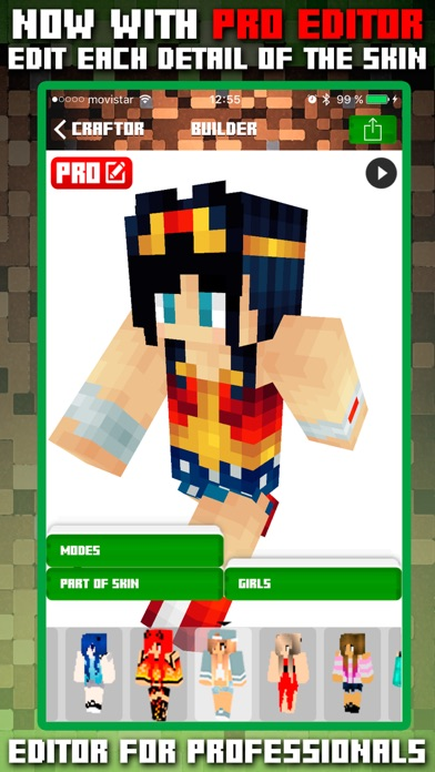 Craftor Pro Skins Creator for Minecraft PE & PCのおすすめ画像2