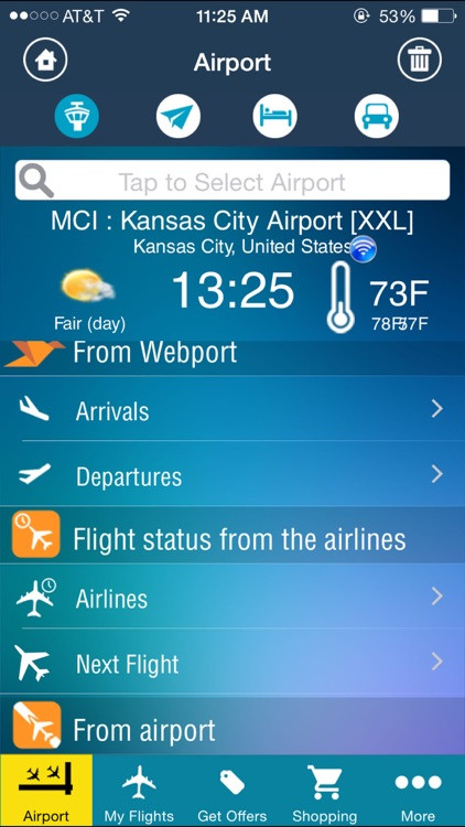 Kansas City Airport Pro (MCI) + Flight Tracker
