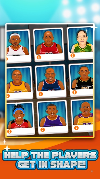 Basketball Fat to Fit Gym - real sports stars jump-ing & run shoot toss game for kids! screenshot-0