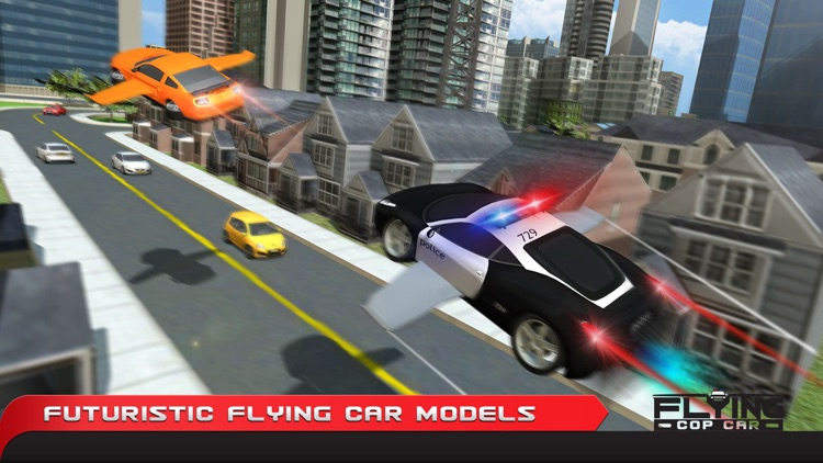 Flying Cop Car Simulator 3D – Extreme Criminal Police Cars Driving and Airplane Flight Pilot Simulation screenshot-3