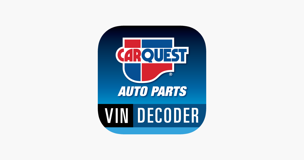 CARQUEST VIN Decoder on the App Store