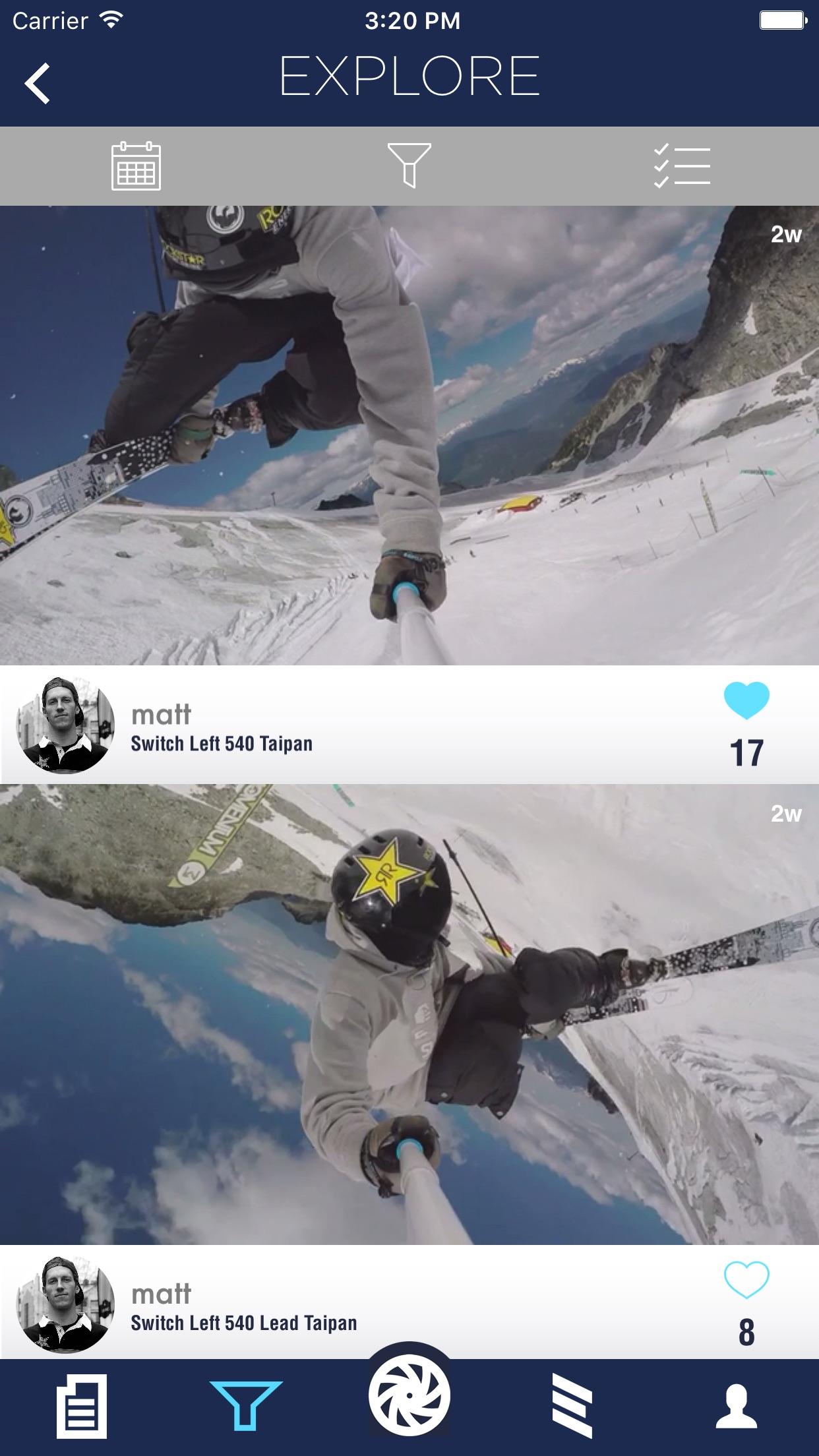Slapp - A Mobile Ski Community Screenshot