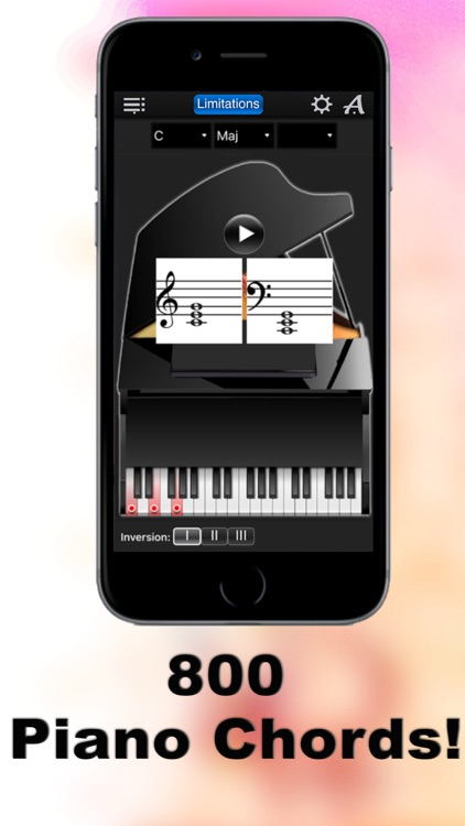 Piano Chords Compass Lite - learn the chord notes & play them screenshot-0