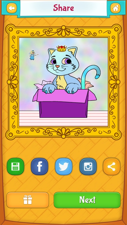 Kitty Cat Coloring Pages screenshot-3