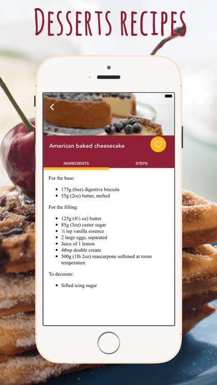Desserts Recipes Cookbook