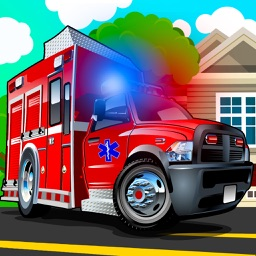 Ambulance driving simulator - Emergency truck highway racing games easy for small girls and boys
