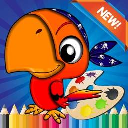 Bird Coloring Book for children age 1-10: Drawing & Coloring page games free for learning skill