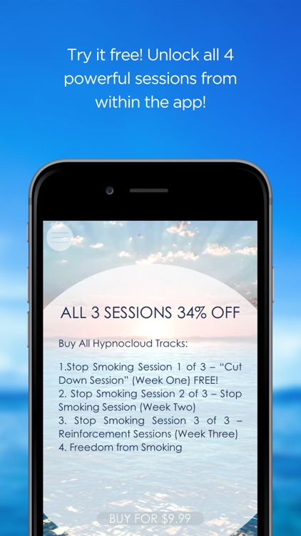 """Stop Smoking Hypnosis Free - by Hypno Cloud – """"Excellent – It Works!"""" screenshot-3"""