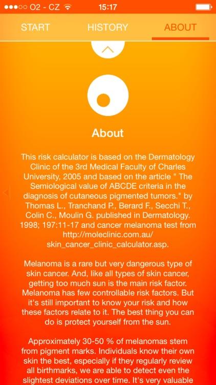 Melanoma Test - risk calculator of skin cancer screenshot-4