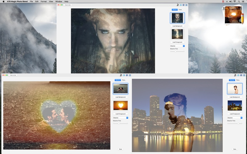 A7B Magic Photo Blend for Mac