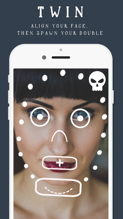 Evil Twin: pic effects filter using friends' photos and my spooky selfies!