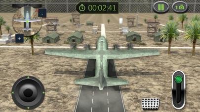 Ejército Carga Avión Vuelo Simulador: Transporte Guerra Tanque en Campo de batallaCaptura de pantalla de3