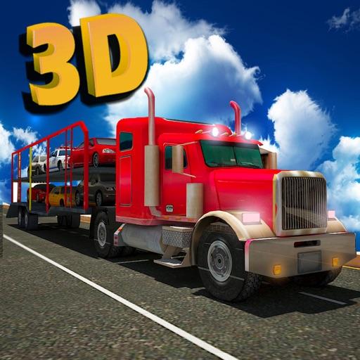 Автовоз грузовиков - 3d транспортер грузов дальнобойщик парковка симулятор