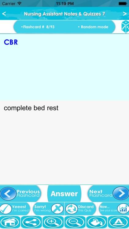 Nursing Assistant Exam Review : 4800 Quiz & Study Notes screenshot-3