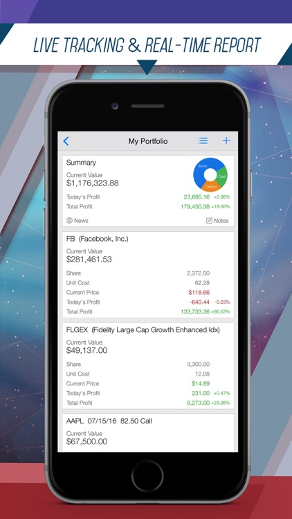 Portfolio Pro: Fast Portfolio Manager with Real-Time Stock Tracker, Option Analysis and Alert screenshot-1